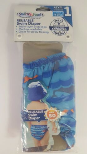 SwimSchool Reusable Swim Diaper Sizes 6 Mths (10-12 lbs) or 12 Mths (18-25 lbs)