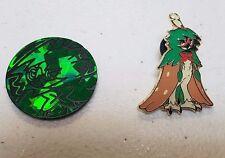 Decidueye SM37 -Green COIN + PIN LOT SET- Pokemon - GX Premium Collection Figure