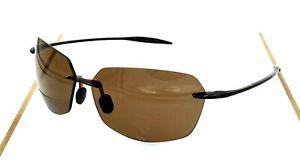 Brown Frameless Polarized Sunglasses Men Women Ultra Light High Quality Uv400