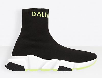 Balenciaga Mens Speed Black Yellow Logo