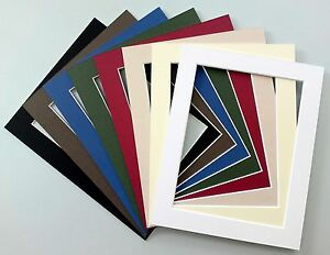 Picture-Mounts-A4-Choice-of-Colours-amp-Sizes