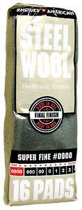 Rhodes American Steel Wool Grade 0000 - Super Fine