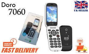 NUOVO-Doro-7060-BLACK-facile-da-usare-Loud-LCD-2-8-034-4GB-3MP-4G-Sbloccato-Telefono-Cellulare