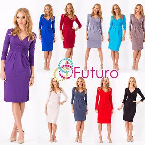 Image Is Loading Women 039 S Wrap Dress V Neck Tail