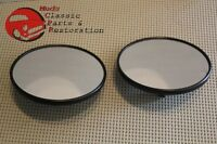 Chevy Truck 5 Black Smooth Mirror Heads Pair Free Shipping