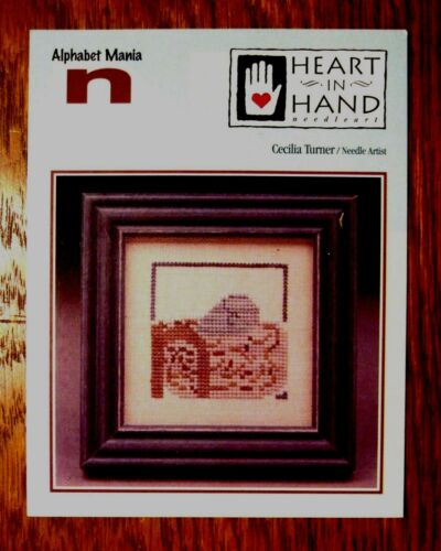 N IS FOR NEST BIRD NEST with EGG to CROSS STITCH by HEART IN HAND NEEDLEART