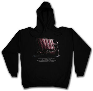 Schiff Wikinger Ii Boot Langschiff Ship Hoodie Vikings Viking Sweatshirt Hooded qgTYnwC