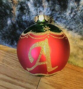 4-034-Round-Kirkland-039-s-Glittered-Monogram-Glass-Ornament-Letter-A