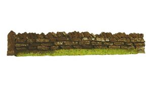 Javis PW1DB 3 x 134mm Roadside Dark Brown Dry Stone Wall 00 Gauge 1st Class Post