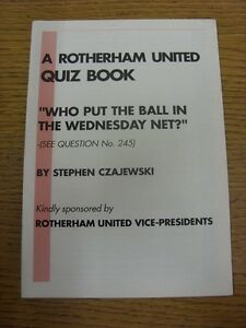 19891990 Rotherham United Quiz Book  Kindly Sponsored By Rotherham United Vic - <span itemprop=availableAtOrFrom>Birmingham, United Kingdom</span> - Returns accepted within 30 days after the item is delivered, if goods not as described. Buyer assumes responibilty for return proof of postage and costs. Most purchases from business s - Birmingham, United Kingdom