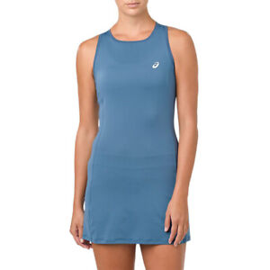 ASICS-Women-039-s-Racerback-Azure-Tennis-Performance-Dress-154421-431-NEW