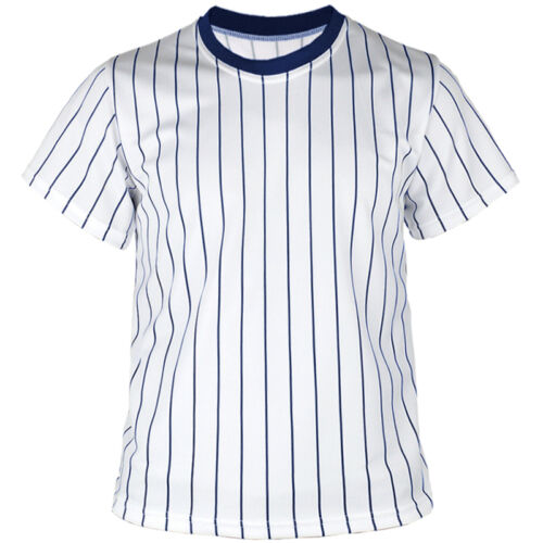 New Men Womens Baseball Blank Striped Jersey Raglan T Shirt Team Sport Tee Tops