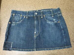 Women-G-Star-short-skirt-Denim-size-S