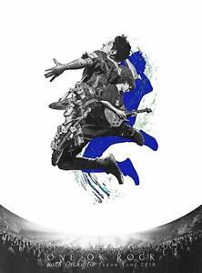 One-Ok-Rock-con-orquesta-Japon-Tour-2018-DVD-AZUL-con-adhesivo-con-el-logotipo-de-folleto-amp