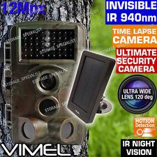 Solar Trail Camera Wireless Farm Security Waterproof Night Vision No Spy Hidden