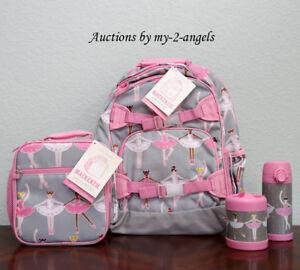 Pottery Barn Kid Glitter Ballerina Large Backpack Lunch