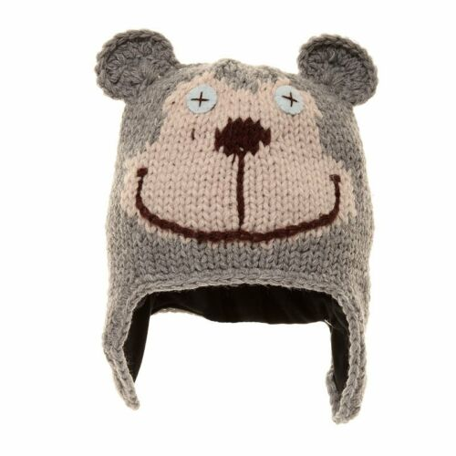 Babies Knitted Bear Hat 2 Colours