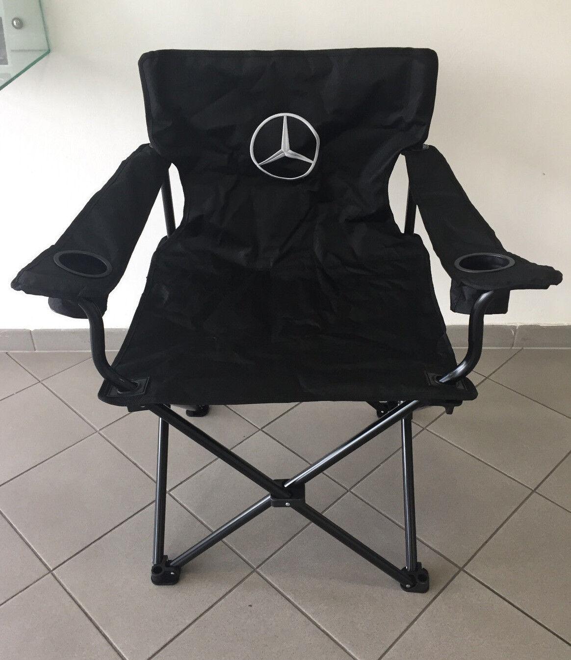 Mercedes-Benz strapazierfähiger Faltstuhl Campingstuhl mit Getränkehalter m.LOGO