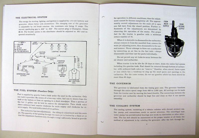 Ford Ferguson 2n 9n Tractor Owner Operators Manual Maintenance Harry  Instruction