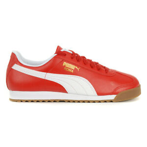 red puma roma shoes