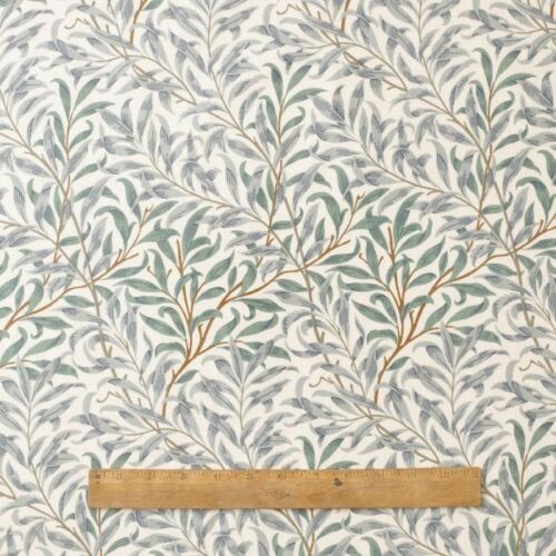 William Morris Willow Bough Green Heavy Weight Fabric By The Half Metre Ebay