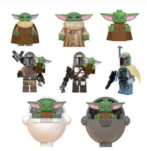 8-Pcs-Minifigures-The-Mandalorian-With-Baby-Yoda-Star-Wars-Lego-MOC-New-2020