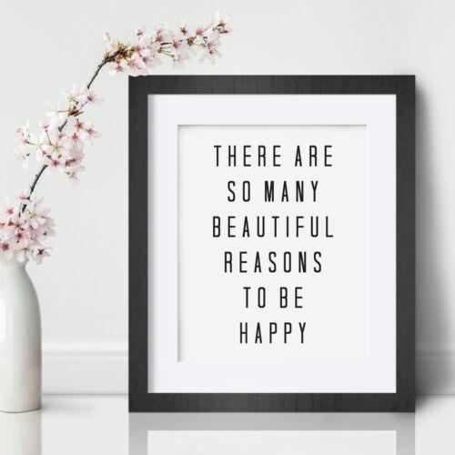 Happy Inspirational Wall Art Print Motivational Quote Poster Decor Encouragement