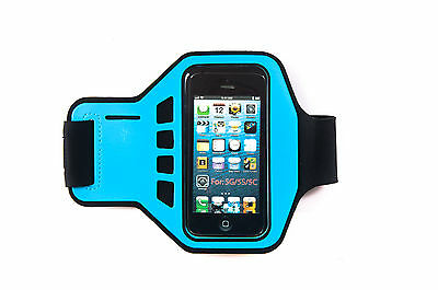King Of Flash Ultimate Blu Iphone 5, 5s, 5c Fascia Da Braccio Running, Jogging Case Strap-
