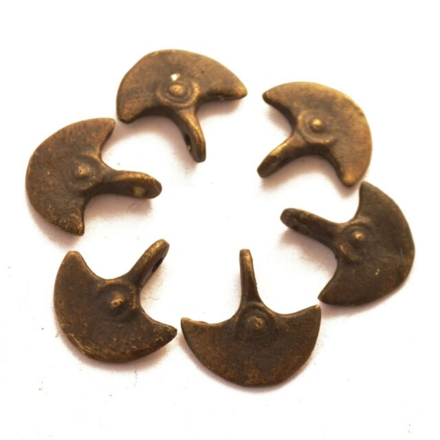 Old Antique Solid Brass Axe 6 Charms Naga Nepalese Ethnic Handmade CH650