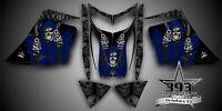 Ski-doo Rev Mxz Snowmobile Sled Wrap Graphics Decal Kit 03-07 Reaper Blue