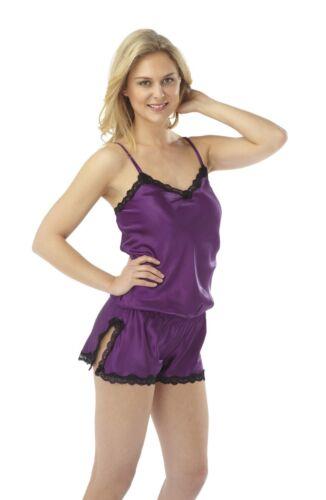 all in one nuit porter dans le luxe violet foncé avec aérations Mesdames sexyteddie