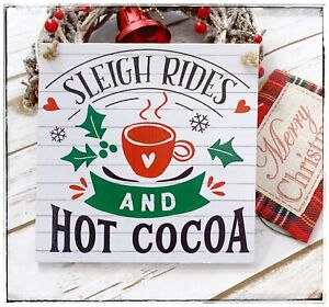 Wall-Hanging-sign-Winter-Christmas-Sleigh-Ride-and-Hot-Cocoa-Chocolate