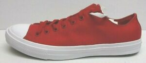Converse-Size-11-Red-White-Canvas-Sneakers-New-Mens-Shoes
