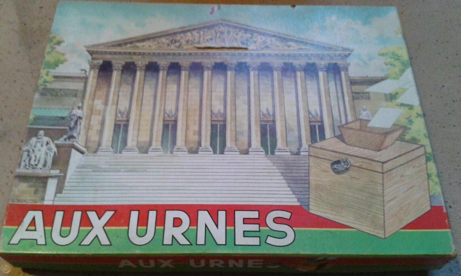 Jeux de Societe  Aux Urnes  1966 editions Laroche, très rare quasi complet
