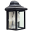 Outdoor-Porch-Light-LED-Bulb-9-034-Black-Fixture-with-Clear-Glass-Panes-458-06 thumbnail 2