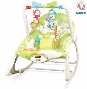 Unisex Baby Rocker Swing Reclining Chair Bouncer Lay & Play Hanging Toys 0M+ 3702031437882
