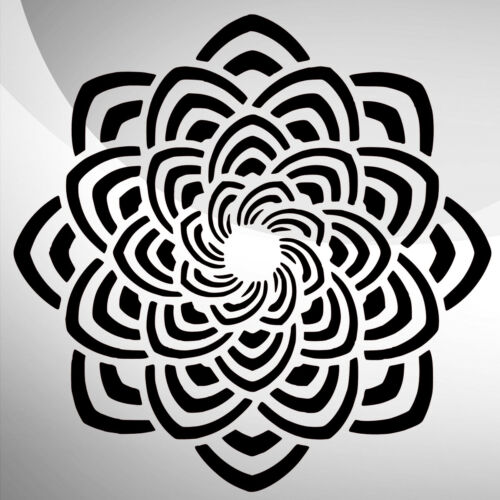 Mandala Ornament Art Craft Stencil Decor Size A5 4 3 2 1 //277