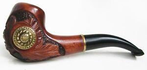 Esclusivo realizzato a mano * Viking * in legno di fumare pipe pipes Fit 9 mm filtro