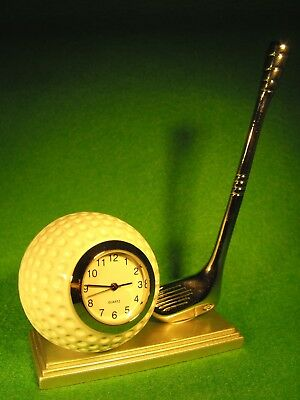 GOLFERS GIFT PRESENT MINIATURE CLOCK GOLF BALL CLOCK  GOLF PRESENTATION GIFT