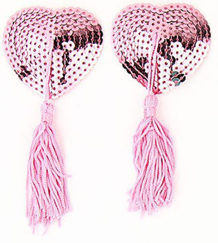 Dress Up Nipple Pasties Breast Peatals Self adisive Sequined with Tassle