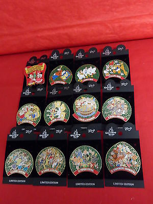 Retired 2000 Limited Edition 12 Days of Christmas Disney Pins