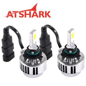 2-ATSHARK-Phare-feux-Xenon-Blanc-Lampe-Ampoule-Voiture-2-COB-9005-66W-6000LM