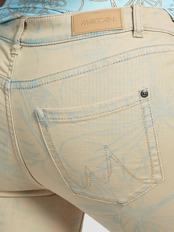 Marc Cain Printed  Ecru Laser design Skinny Jeans Mykonos UK 10