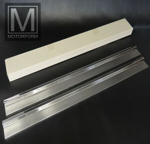 Mercedes SL SLC 107 W107 sill covers stainless steel brushed Schwellerleisten