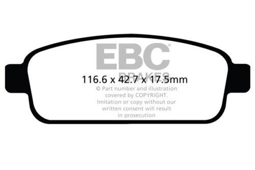 EBC Ultimax Arrière Plaquettes De Frein Pour Chevrolet Orlando 2.0 TD 2011 /> 15