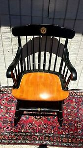 Vintage Hitchcock Fidelity and Guaranty Company Arm Chair made in 1970s