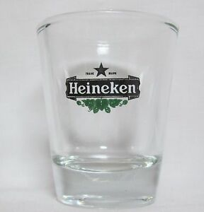 Heinneken-Beer-Logo-on-Clear-Shot-Glass