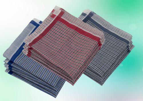 36 cm Packung Herren Taschentuch Tuch Tücher 12 Stück Blau Rot Grau 36