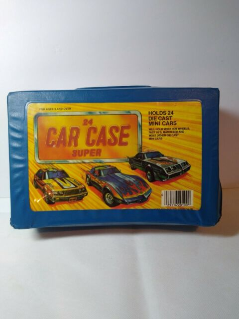 Vintage Tara Toy Corp Diecast Car Case Super Vehicle Carrying Case for 24 Cars