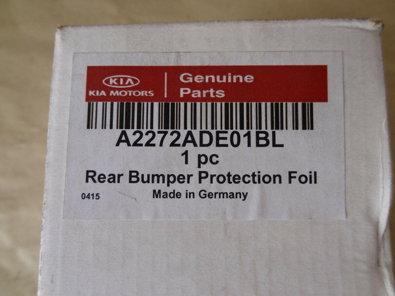 Genuine Kia Cee/'D 2013 Onwards Rear Bumper Protection Foil Black